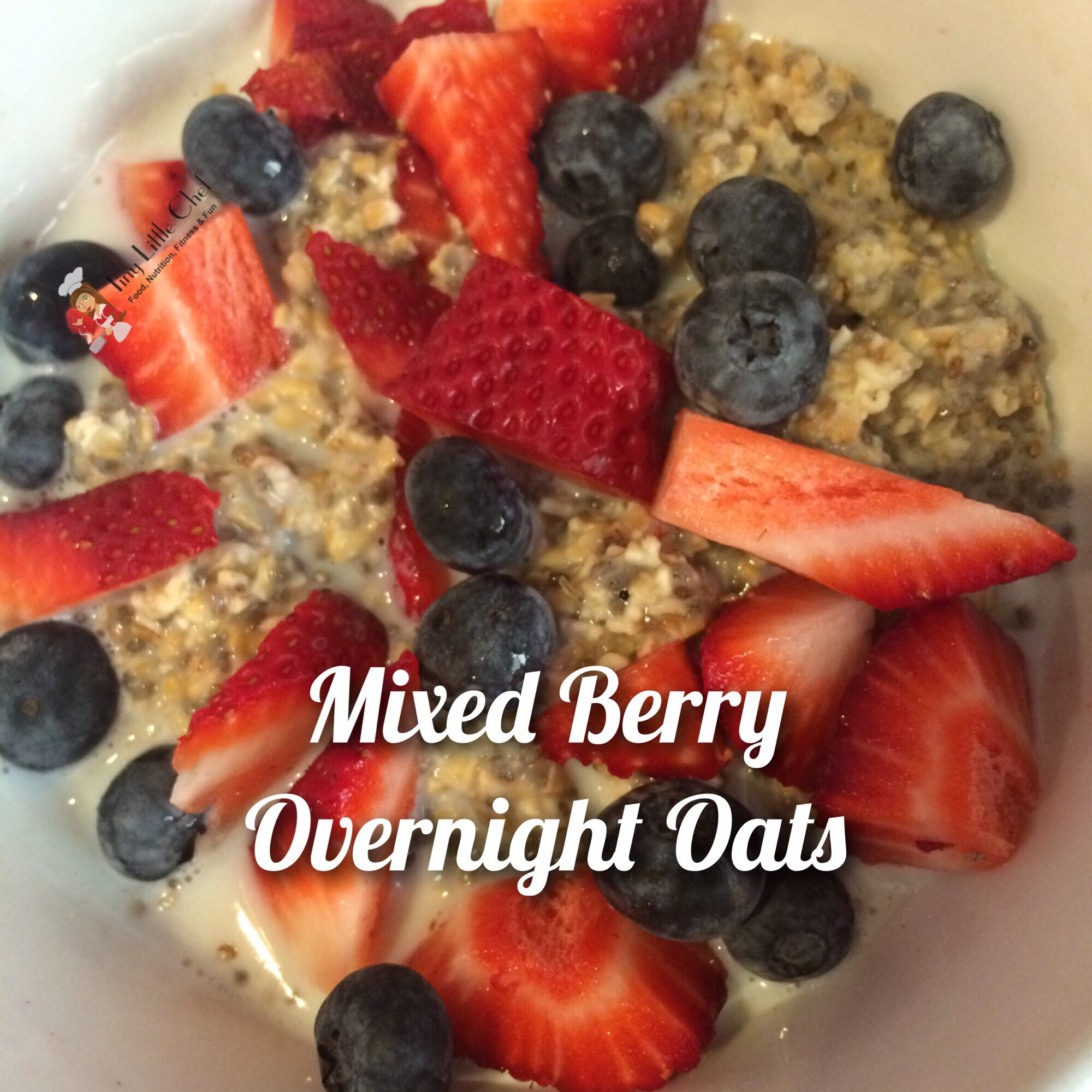 Tiny Little Chef Mixed Berry Overnight Oats