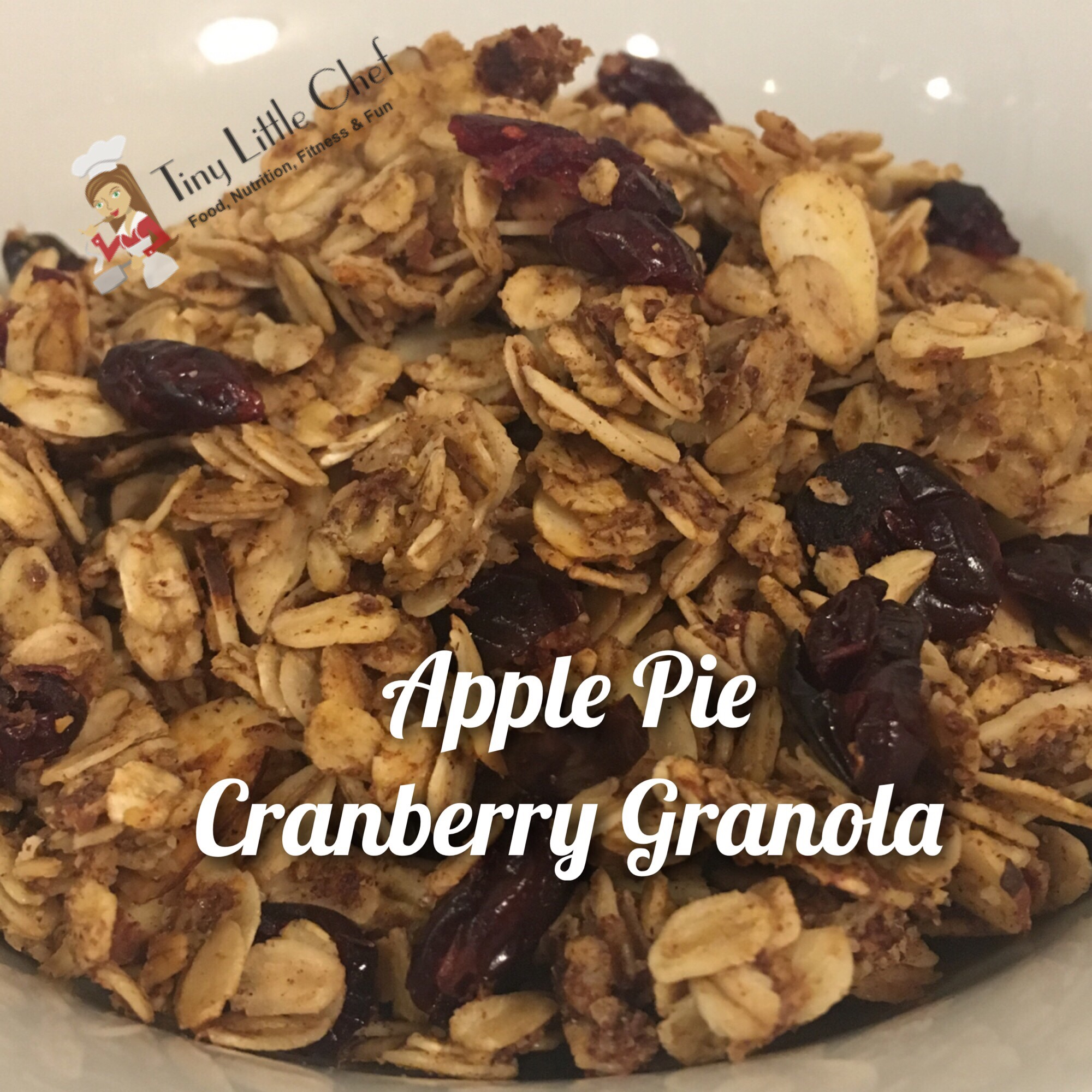 Tiny Little Chef Apple Pie Cranberry Granola