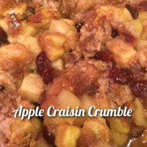 Tiny Little Chef Apple Craisin Crumble